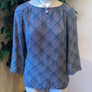 COPY - The Limited Houndstooth Blouse